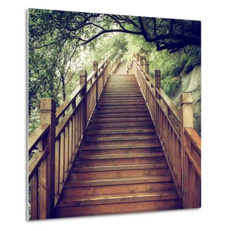 China 10MKm2 Collection - Mountain Woooden Staircase-Philippe Hugonnard-Metal Print