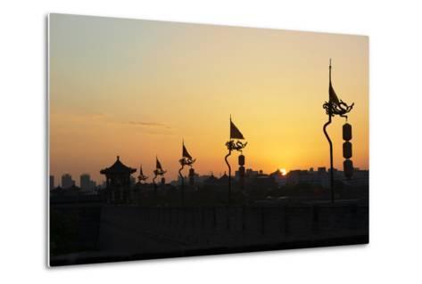 China 10MKm2 Collection - Shadows of the City Walls at sunset - Xi'an City-Philippe Hugonnard-Metal Print