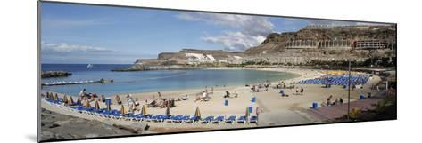 Playa De Los Amadores, Gran Canaria, Canary Islands, Spain-Peter Thompson-Mounted Giclee Print