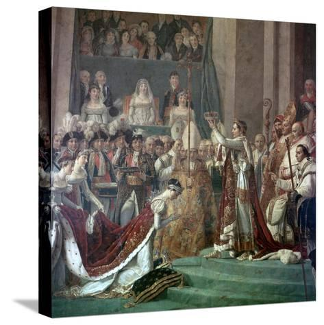 Painting of Napoleon Buonaparte and Empress Josephine, 18th Century-Jacques-Louis David-Stretched Canvas Print