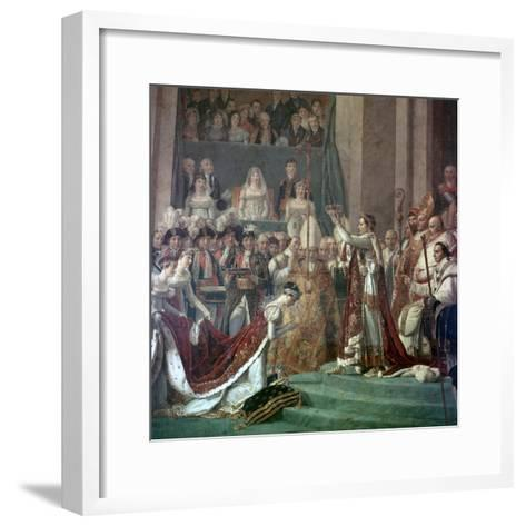 Painting of Napoleon Buonaparte and Empress Josephine, 18th Century-Jacques-Louis David-Framed Art Print