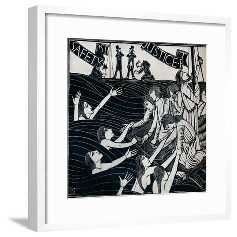 Safety First, 1925 (1934)-Eric Gill-Framed Art Print