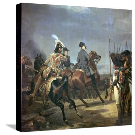 Painting of Napoleon at the Battle of Jena, 19th Century-Horace Vernet-Stretched Canvas Print