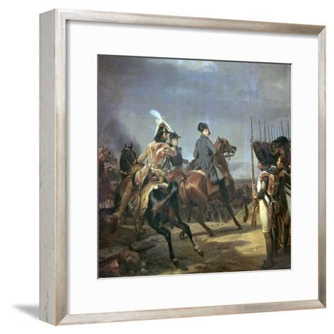 Painting of Napoleon at the Battle of Jena, 19th Century-Horace Vernet-Framed Art Print