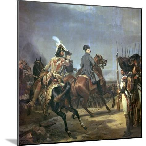 Painting of Napoleon at the Battle of Jena, 19th Century-Horace Vernet-Mounted Giclee Print