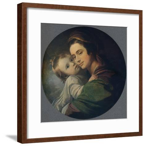 Mrs. West and Child, 1770-Benjamin West-Framed Art Print