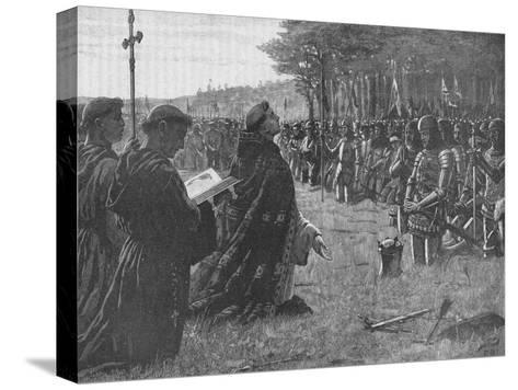 The Thanksgiving Service on the Field of Agincourt, France, 1415-EBL-Stretched Canvas Print