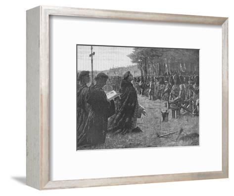 The Thanksgiving Service on the Field of Agincourt, France, 1415-EBL-Framed Art Print