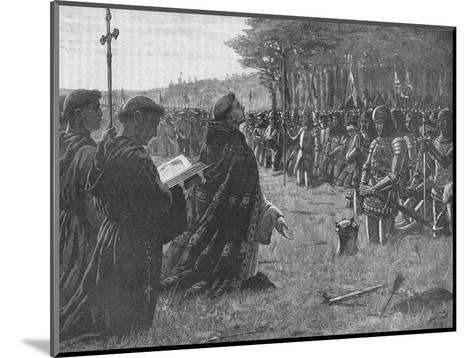 The Thanksgiving Service on the Field of Agincourt, France, 1415-EBL-Mounted Giclee Print