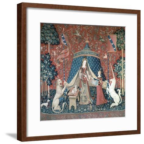 La Dame a La Licorne, 15th Century-CM Dixon-Framed Art Print