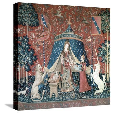 La Dame a La Licorne, 15th Century-CM Dixon-Stretched Canvas Print