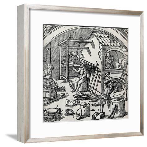 A Silver Refinery, 1556, (1917)--Framed Art Print