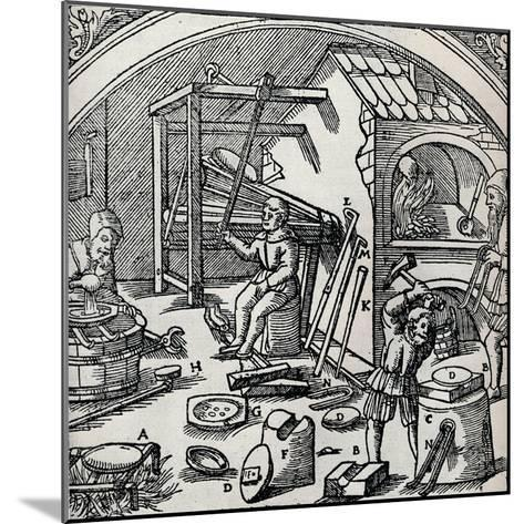 A Silver Refinery, 1556, (1917)--Mounted Giclee Print