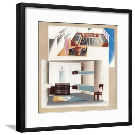 The New Orient Liner Contributes Toward a New Standard of Decoration, 1935--Framed Art Print