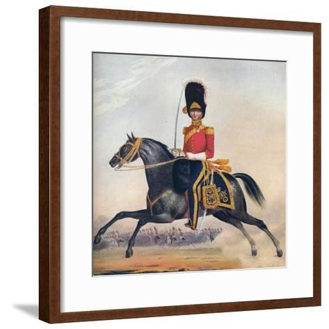 Officer of the 2nd (R. N. Brit.) Dragoons, C1833. (1914)--Framed Art Print