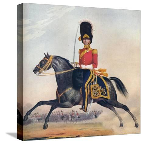 Officer of the 2nd (R. N. Brit.) Dragoons, C1833. (1914)--Stretched Canvas Print