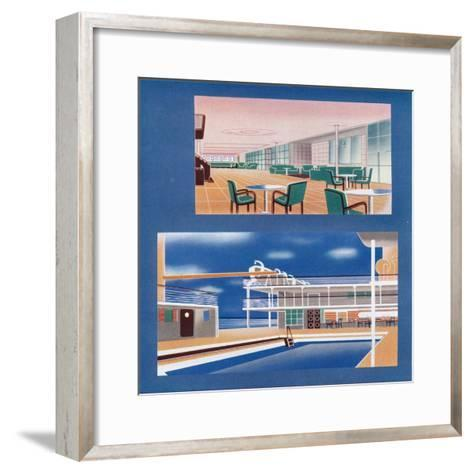 The Tourist Lounge and Swimming Bath of the Rms Orion, 1935--Framed Art Print