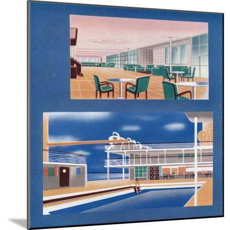 The Tourist Lounge and Swimming Bath of the Rms Orion, 1935--Mounted Giclee Print