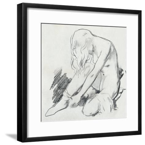 A Figure Study, C20th Century (1932)-William Newenham Montague Orpen-Framed Art Print