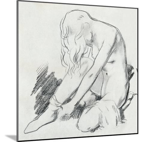 A Figure Study, C20th Century (1932)-William Newenham Montague Orpen-Mounted Giclee Print