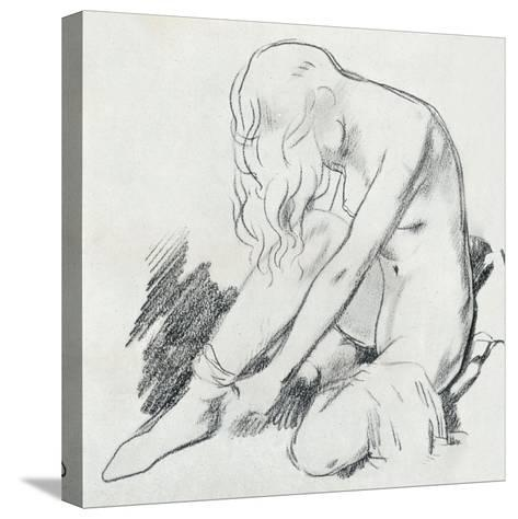 A Figure Study, C20th Century (1932)-William Newenham Montague Orpen-Stretched Canvas Print