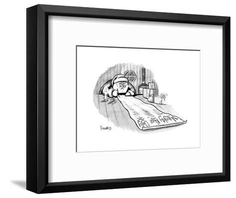 Naughty, Nice, Ugly - Cartoon-Benjamin Schwartz-Framed Art Print