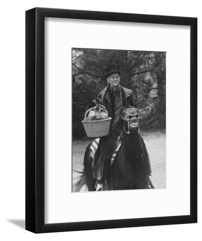 """Scene from """"Trail to Christmas"""" Adaptation of Charles Dicken's """"Christmas Carol"""" GE Show-Allan Grant-Framed Art Print"""