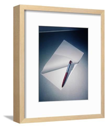 Best Selling Christmas Gifts - Pen with Paper-Nina Leen-Framed Art Print