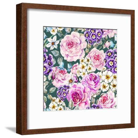 Floral Pattern-Zenina-Framed Art Print