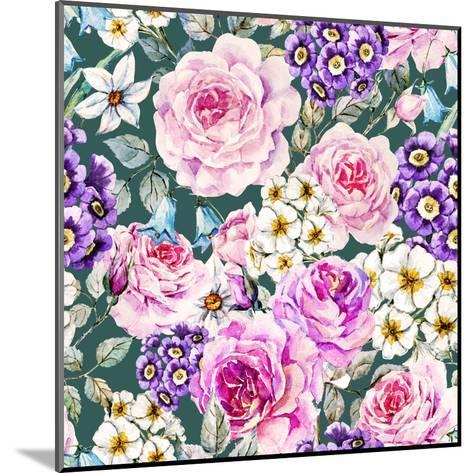 Floral Pattern-Zenina-Mounted Art Print