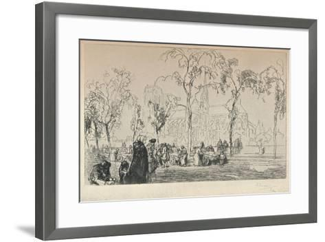 Notre Dame Viewed from the Quai Montebello, 1915-Auguste Lepere-Framed Art Print