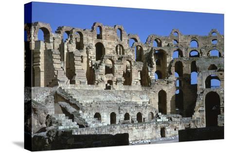 Interior of a Roman Colosseum, 3rd Century-CM Dixon-Stretched Canvas Print