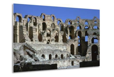 Interior of a Roman Colosseum, 3rd Century-CM Dixon-Metal Print