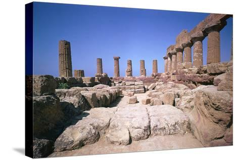 The Doric Temple of Hera at Agrigento, 5th Century Bc-CM Dixon-Stretched Canvas Print