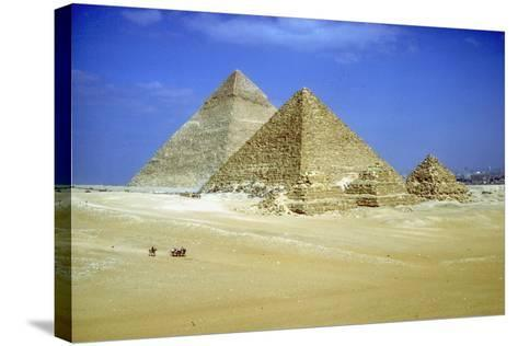 Pyramids of Khafre and Mycerinus and Three Pyramids of His Queens, Giza, Egypt, C2600-C2500 Bc-CM Dixon-Stretched Canvas Print