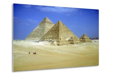 Pyramids of Khafre and Mycerinus and Three Pyramids of His Queens, Giza, Egypt, C2600-C2500 Bc-CM Dixon-Metal Print