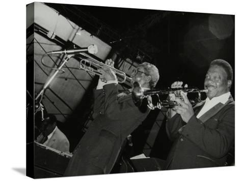 Trumpeters Joe Newman and Cat Anderson at the Newport Jazz Festival, Middlesbrough, 1978-Denis Williams-Stretched Canvas Print