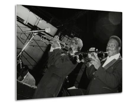 Trumpeters Joe Newman and Cat Anderson at the Newport Jazz Festival, Middlesbrough, 1978-Denis Williams-Metal Print