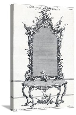 Plate CLXX, from Chippendales Director, 1754, (1903)-Butler Clowes-Stretched Canvas Print