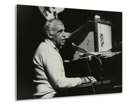 Buddy Rich Playing the Piano, Forum Theatre, Hatfield, Hertfordshire, November 1986-Denis Williams-Metal Print