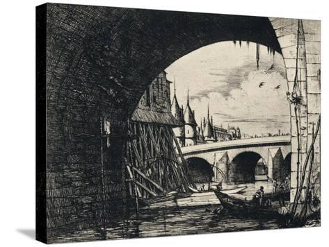 Arch of the Pont Notre-Dame, 1915-CH Meryon-Stretched Canvas Print