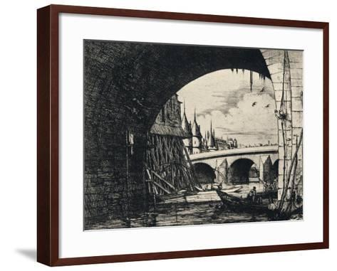 Arch of the Pont Notre-Dame, 1915-CH Meryon-Framed Art Print