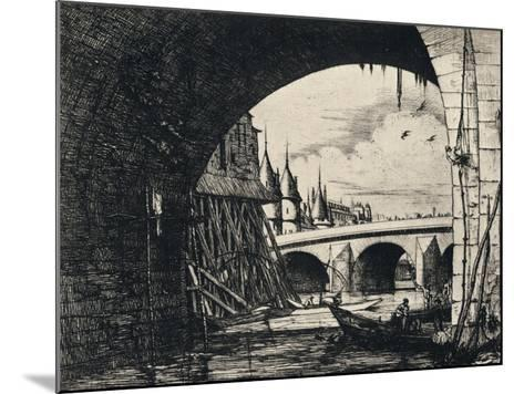 Arch of the Pont Notre-Dame, 1915-CH Meryon-Mounted Giclee Print