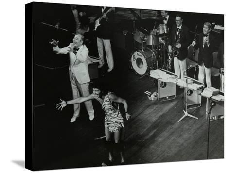 Joe Loss (Left) on Stage with His Orchestra at the Forum Theatre, Hatfield, Hertfordshire, 1986-Denis Williams-Stretched Canvas Print