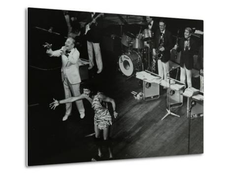 Joe Loss (Left) on Stage with His Orchestra at the Forum Theatre, Hatfield, Hertfordshire, 1986-Denis Williams-Metal Print