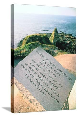 War Memorial at the Pointe Du Hoc Near Omaha Beach, Normandy, France-Peter Thompson-Stretched Canvas Print