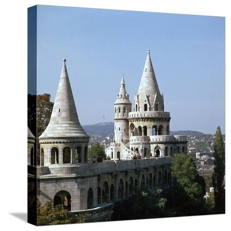 The Fishermans Bastion on Castle Hill in Budapest-CM Dixon-Stretched Canvas Print
