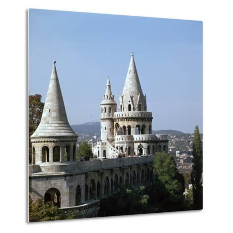 The Fishermans Bastion on Castle Hill in Budapest-CM Dixon-Metal Print