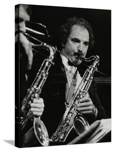 Saxophonist Frank Tiberi Performing at the Forum Theatre, Hatfield, Hertfordshire, 1983-Denis Williams-Stretched Canvas Print
