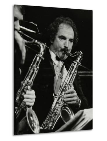 Saxophonist Frank Tiberi Performing at the Forum Theatre, Hatfield, Hertfordshire, 1983-Denis Williams-Metal Print